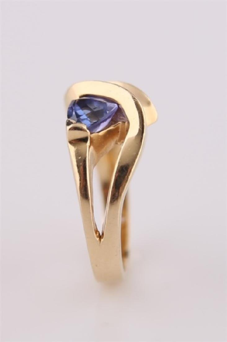 14kt P Yellow Gold Ring with Tanzanite - 3