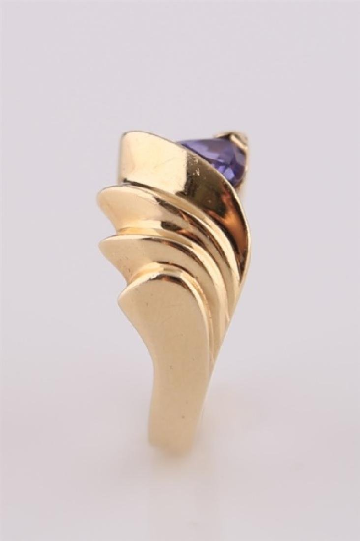14kt P Yellow Gold Ring with Tanzanite - 4