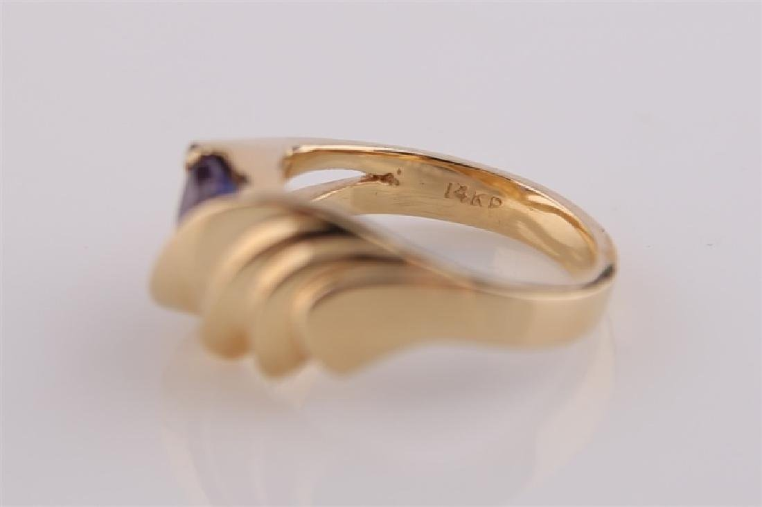 14kt P Yellow Gold Ring with Tanzanite - 5