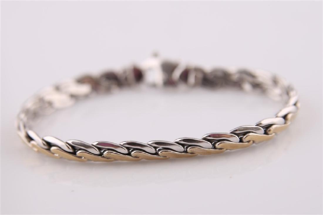 14kt White Gold Two-Tone Link Bracelet