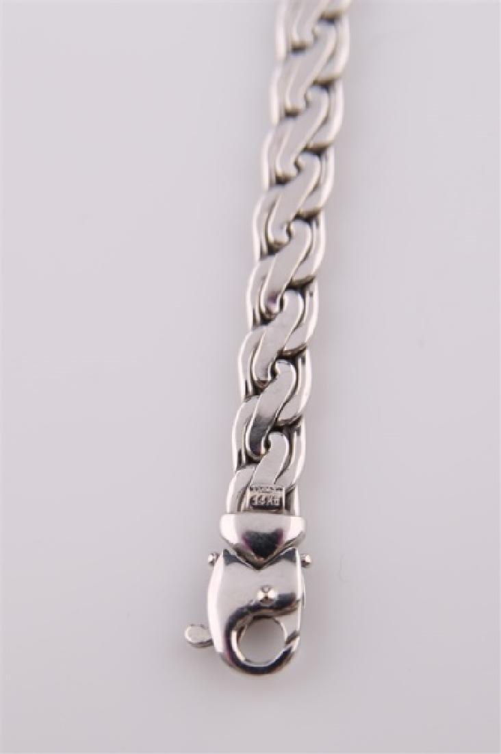 14kt White Gold Two-Tone Link Bracelet - 5