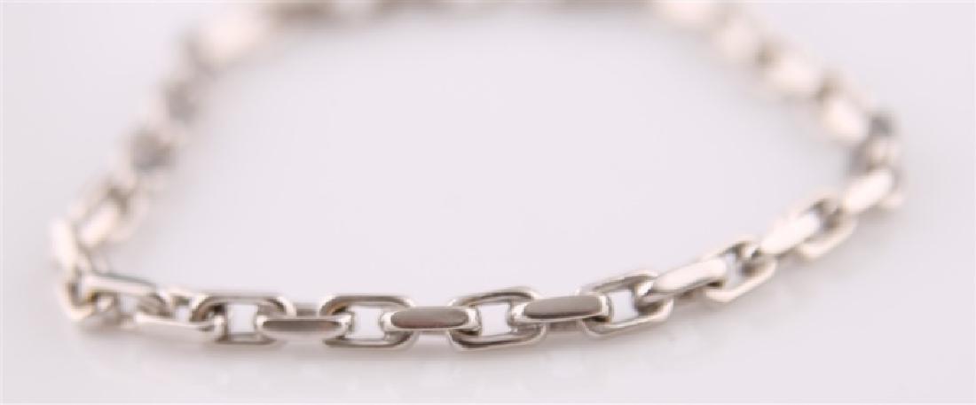 14kt White Gold Anchor Link Chain Bracelet