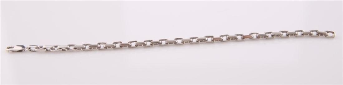 14kt White Gold Anchor Link Chain Bracelet - 2