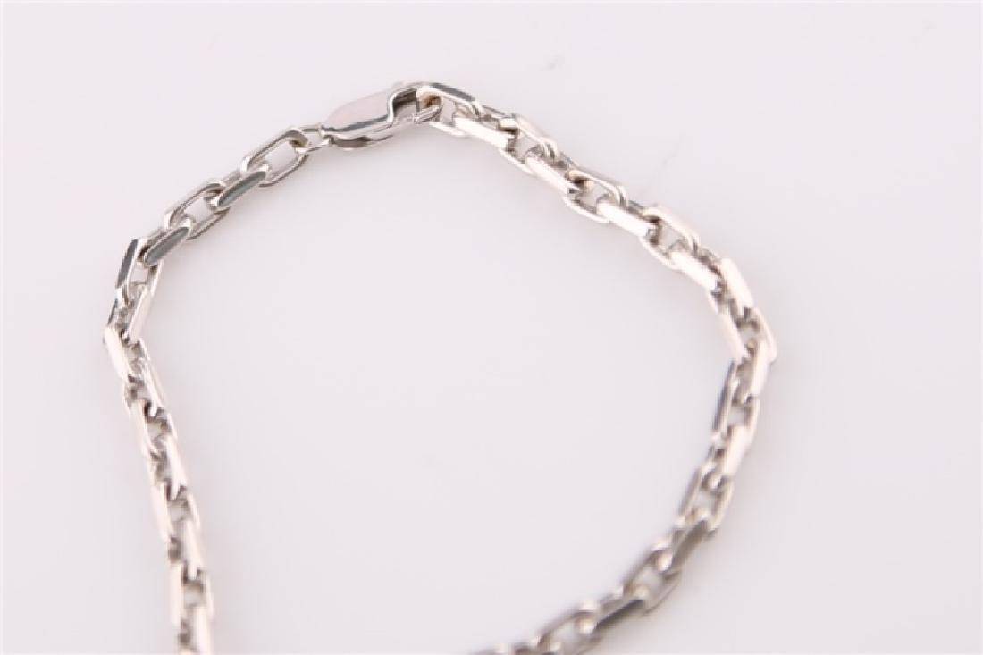 14kt White Gold Anchor Link Chain Bracelet - 3