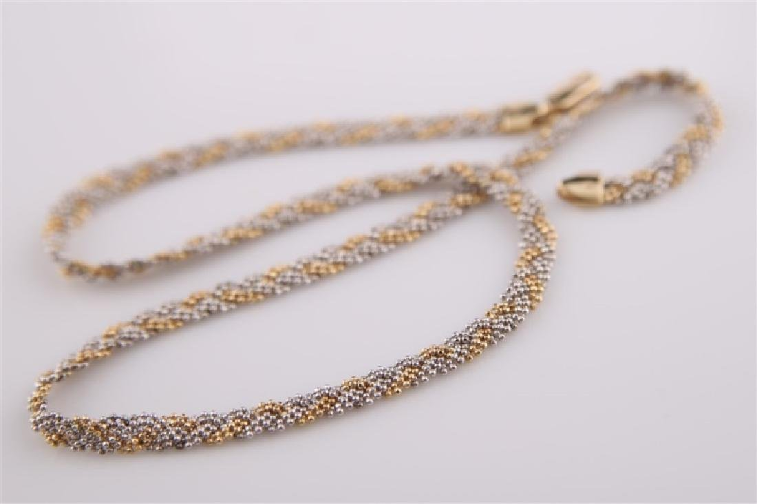 14kt Yellow Gold Braided Chain Necklace