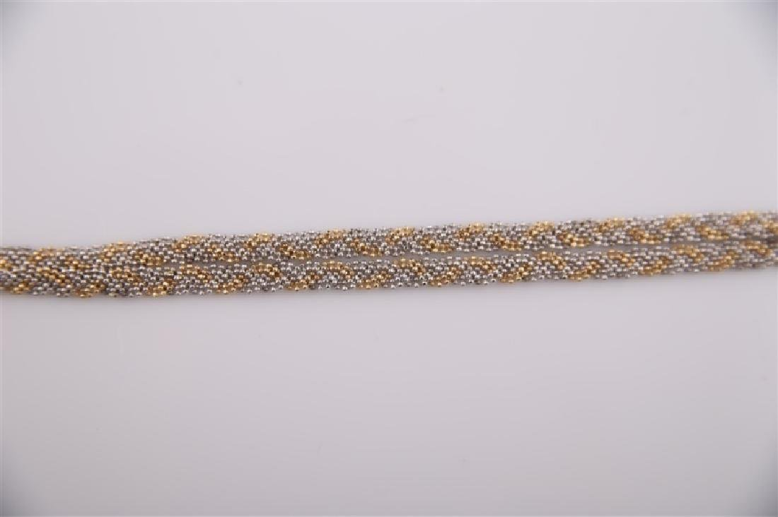 14kt Yellow Gold Braided Chain Necklace - 3