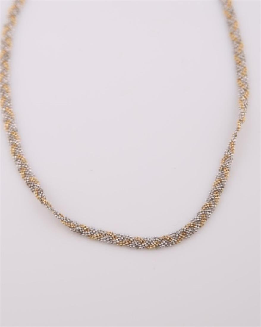 14kt Yellow Gold Braided Chain Necklace - 4