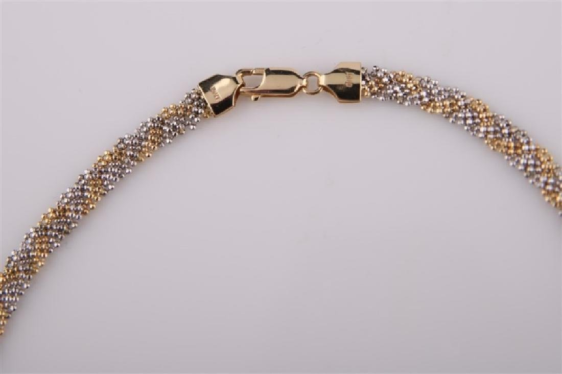 14kt Yellow Gold Braided Chain Necklace - 5