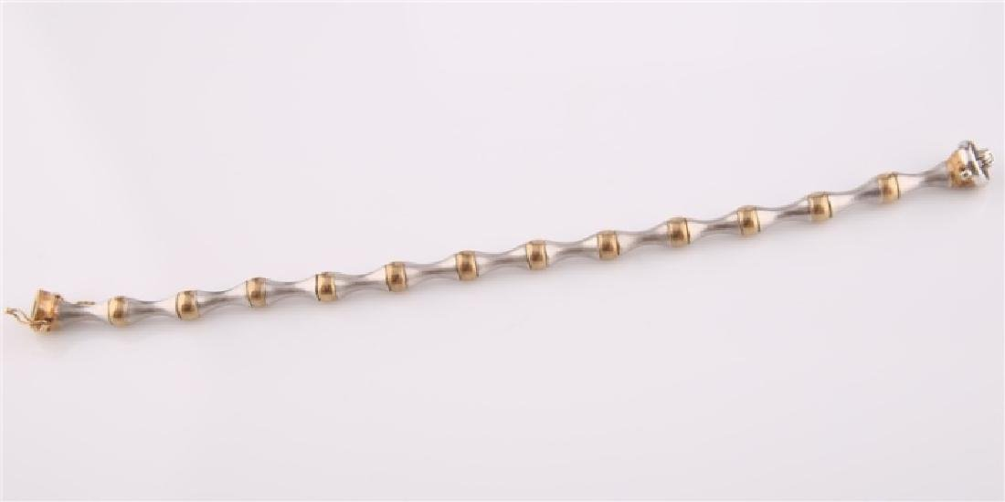 14kt Yellow and White Gold Bracelet - 5