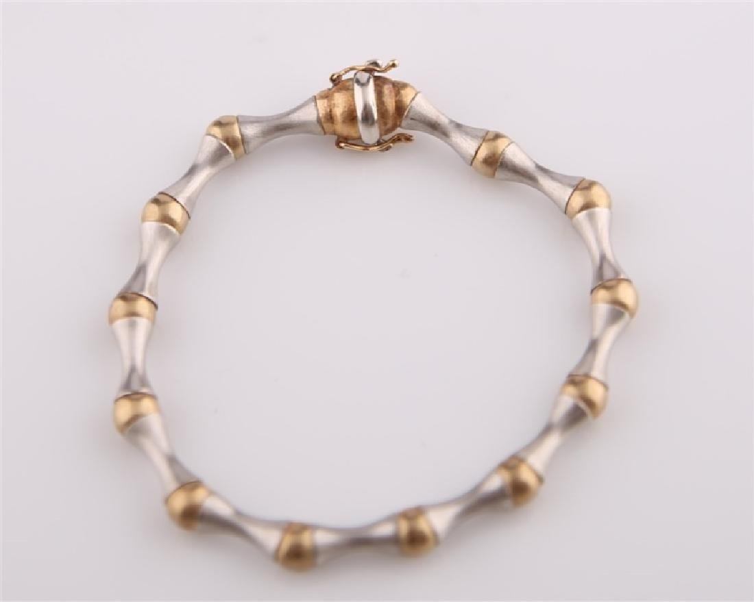 14kt Yellow and White Gold Bracelet - 6
