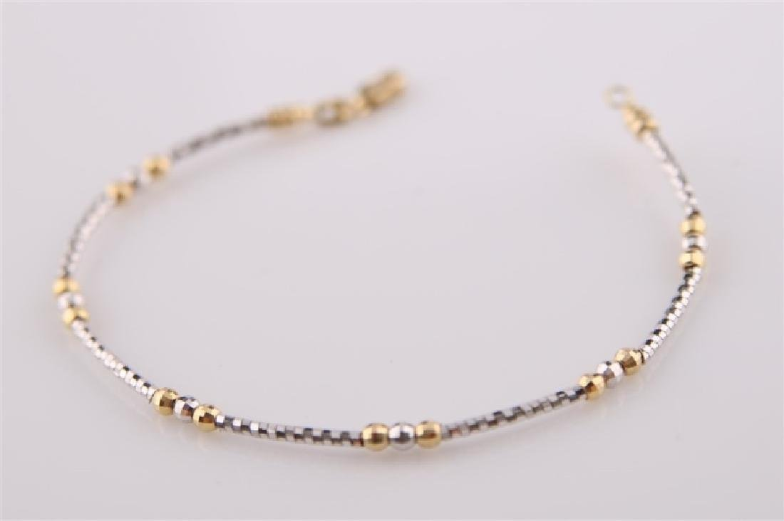 18kt Yellow and White Gold Twist Bracelet