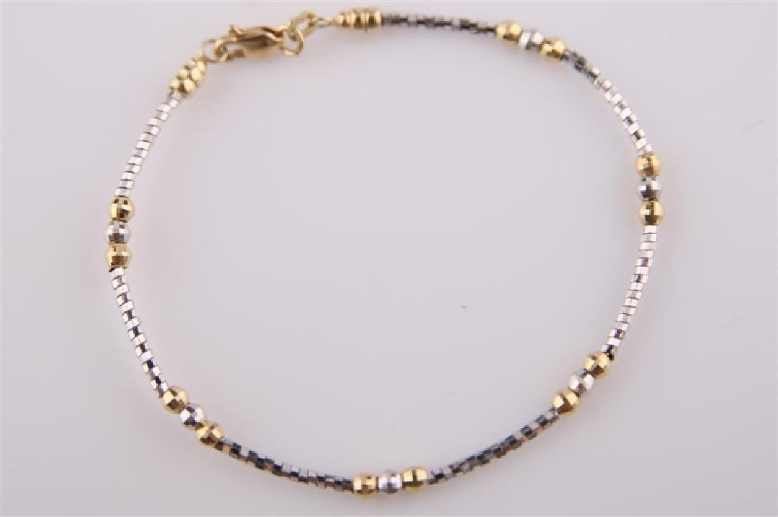 18kt Yellow and White Gold Twist Bracelet - 2