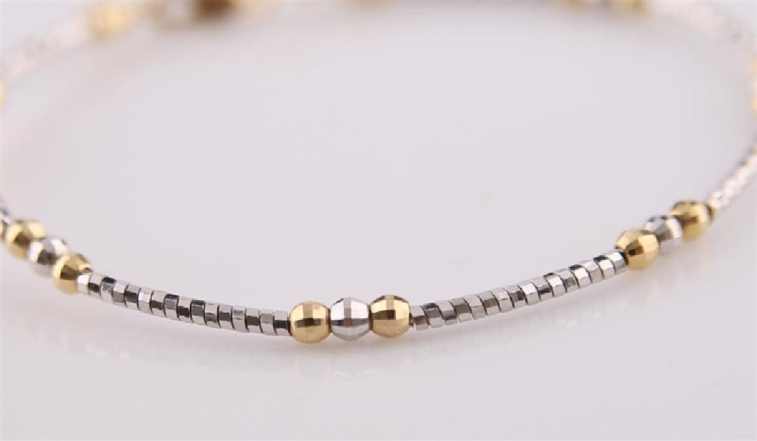 18kt Yellow and White Gold Twist Bracelet - 3