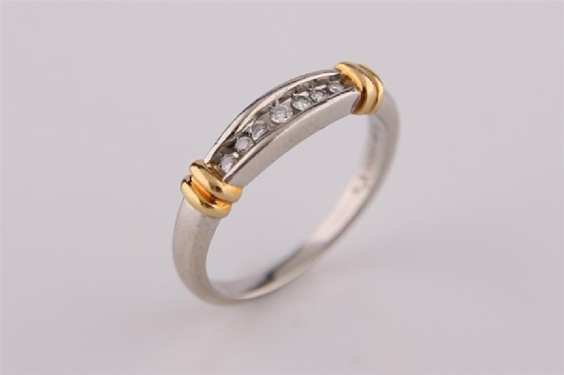 Platinum and 18kt Gold Ring