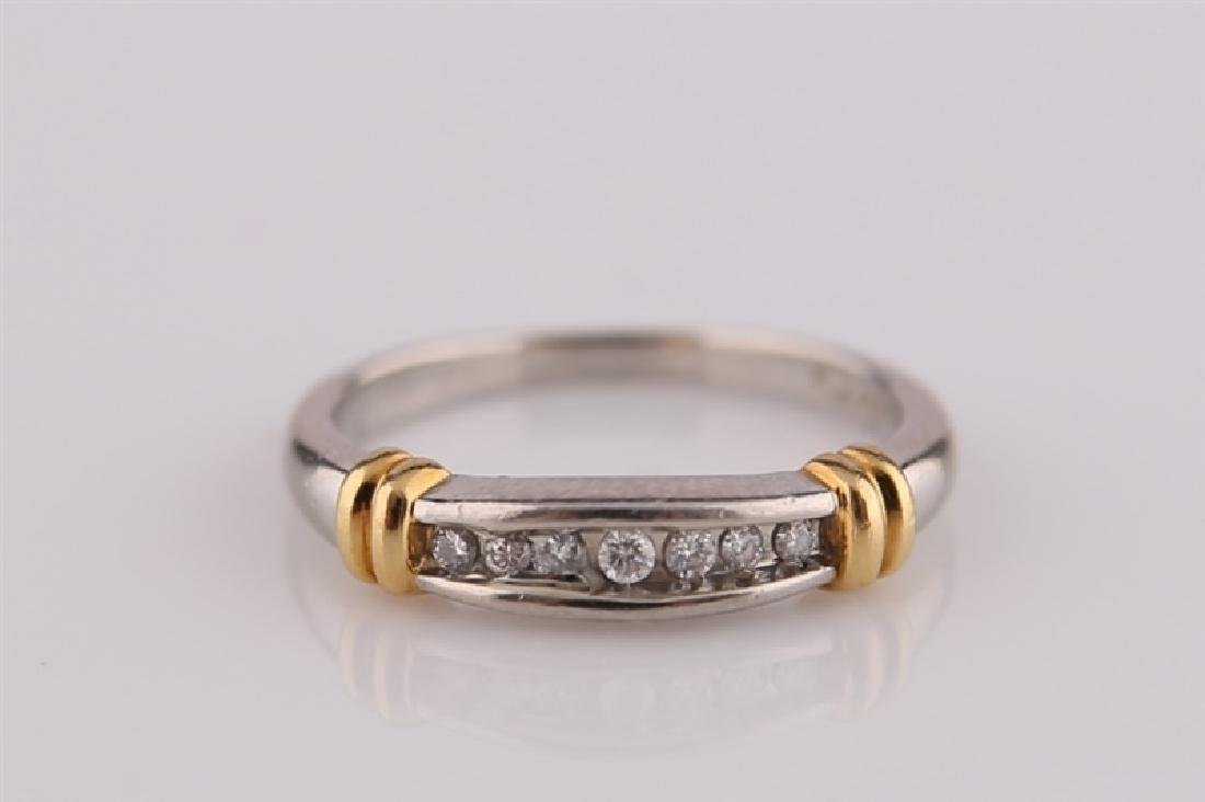 Platinum and 18kt Gold Ring - 2