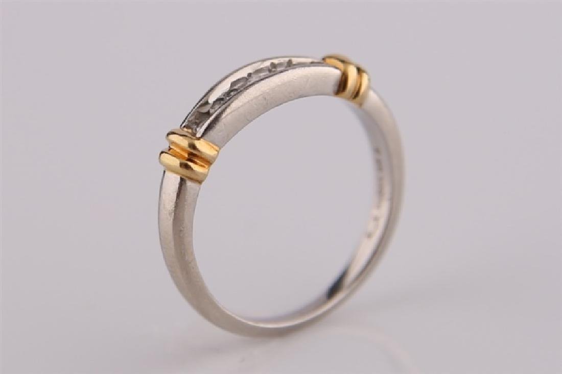 Platinum and 18kt Gold Ring - 3