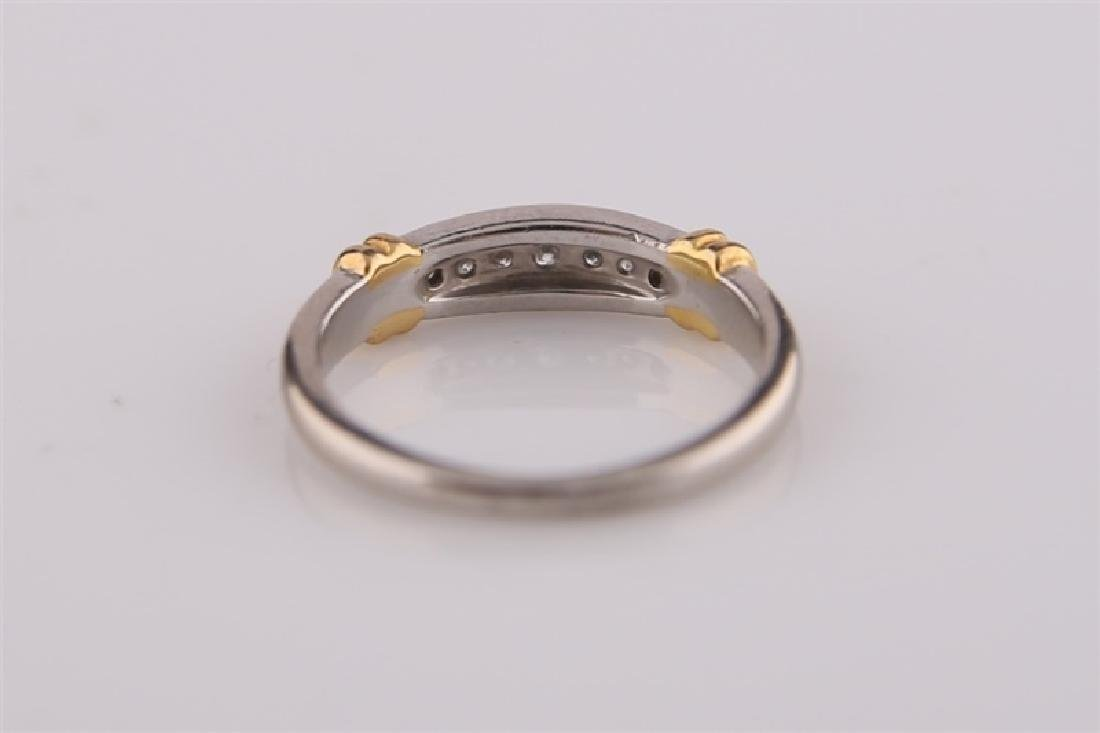 Platinum and 18kt Gold Ring - 5