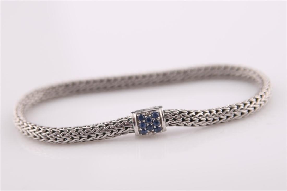 925 John Hardy Snake Chain Bracelet with Sapphires