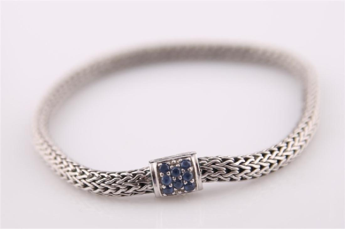 925 John Hardy Snake Chain Bracelet with Sapphires - 2