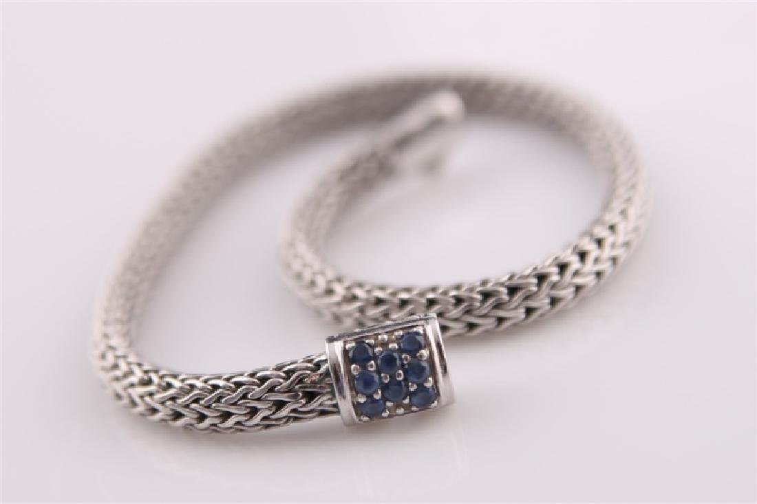 925 John Hardy Snake Chain Bracelet with Sapphires - 3