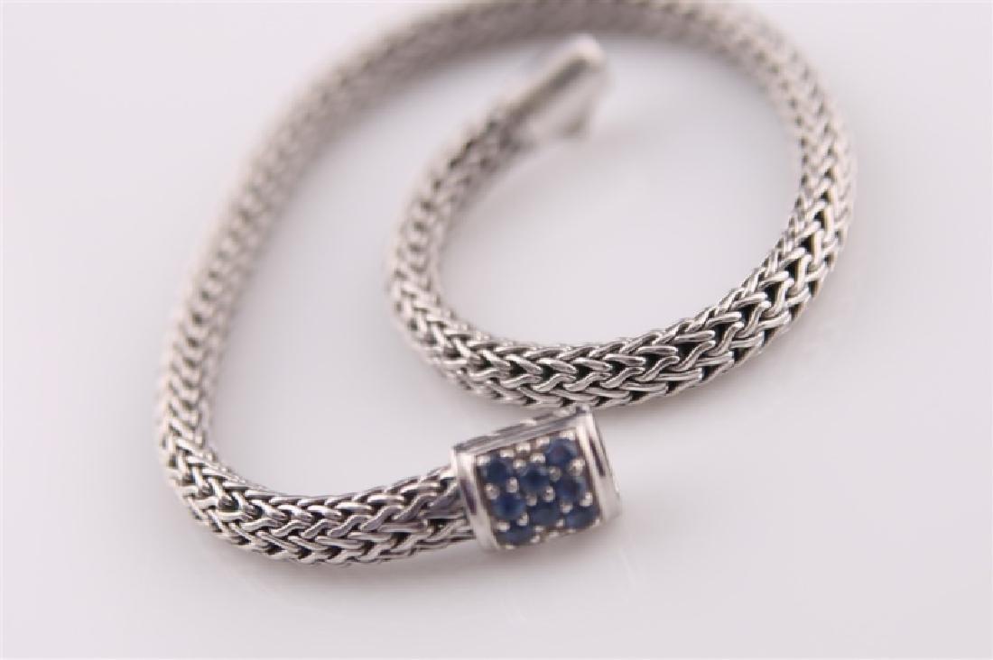 925 John Hardy Snake Chain Bracelet with Sapphires - 4