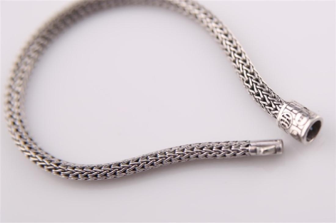 925 John Hardy Snake Chain Bracelet with Sapphires - 5