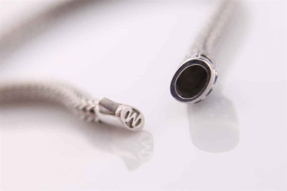 925 John Hardy Snake Chain Bracelet with Sapphires - 6