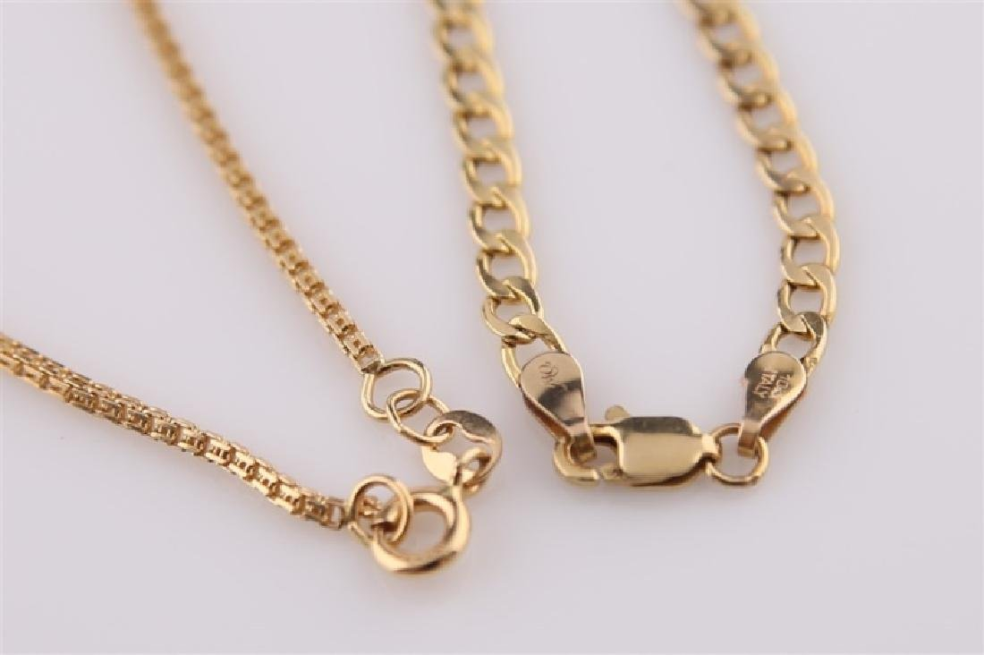 Lot of Two Gold Necklaces
