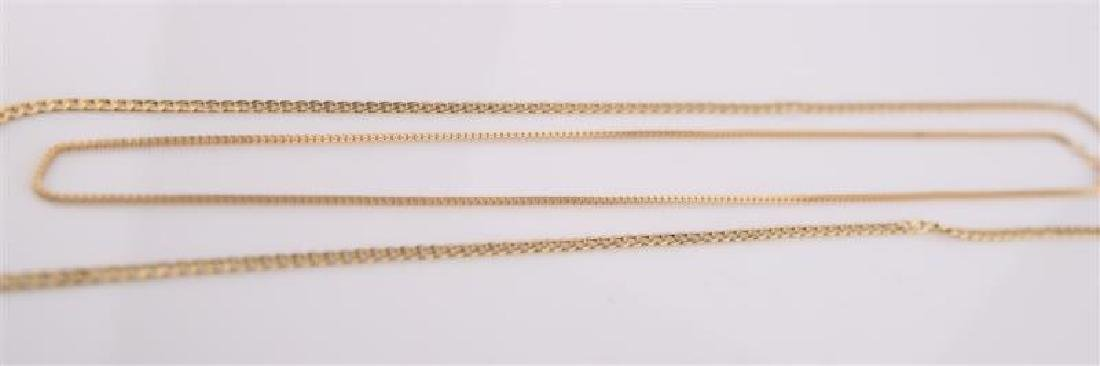 Lot of Two Gold Necklaces - 2