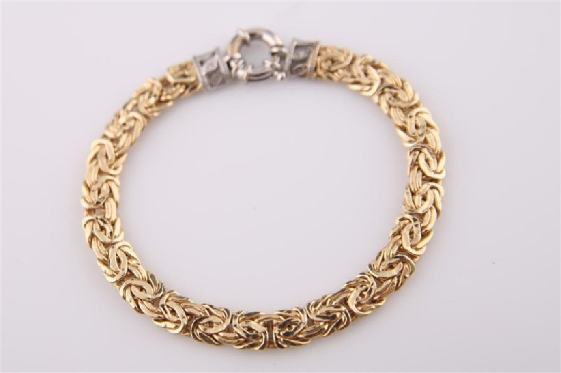 14kt Yellow Gold Chain Bracelet