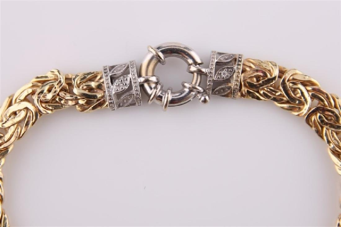 14kt Yellow Gold Chain Bracelet - 2
