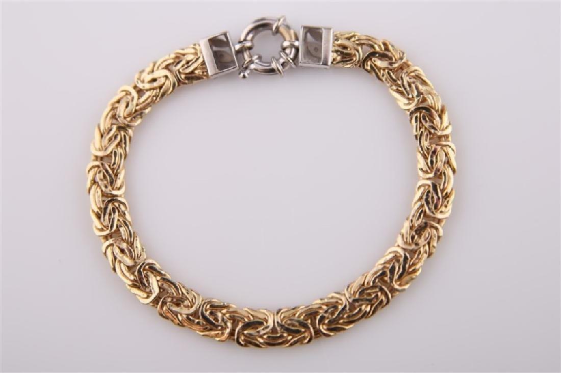 14kt Yellow Gold Chain Bracelet - 4