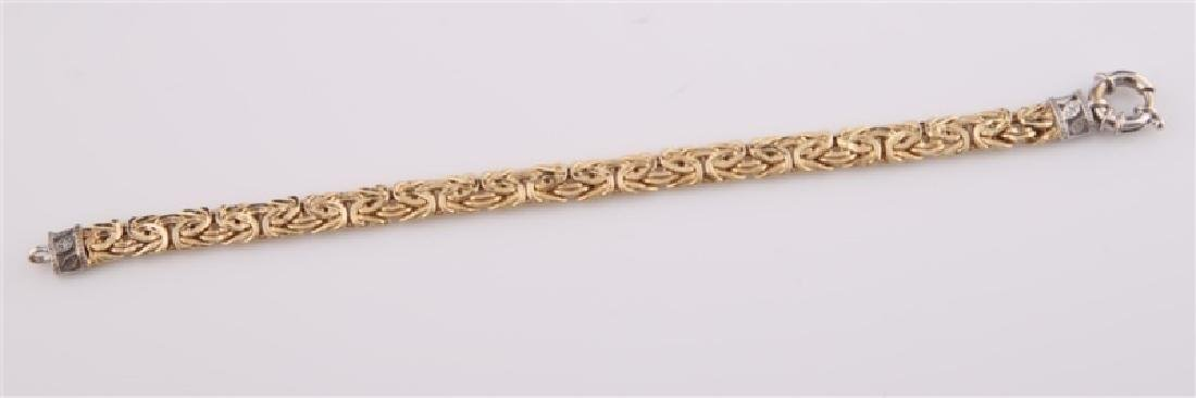 14kt Yellow Gold Chain Bracelet - 5