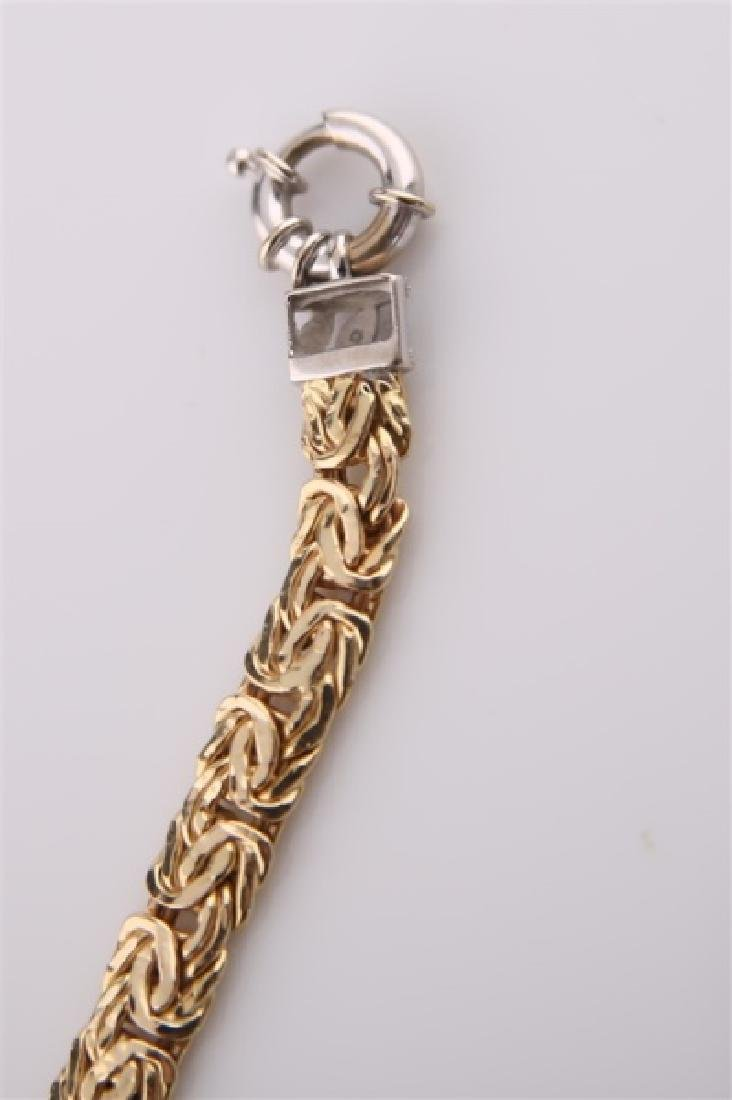 14kt Yellow Gold Chain Bracelet - 6