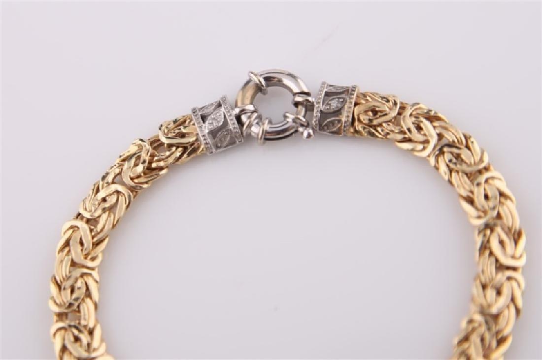14kt Yellow Gold Chain Bracelet - 7