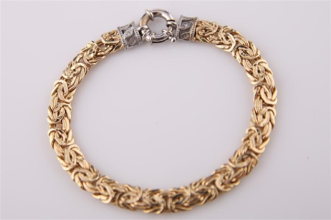 14kt Yellow Gold Chain Bracelet - 8