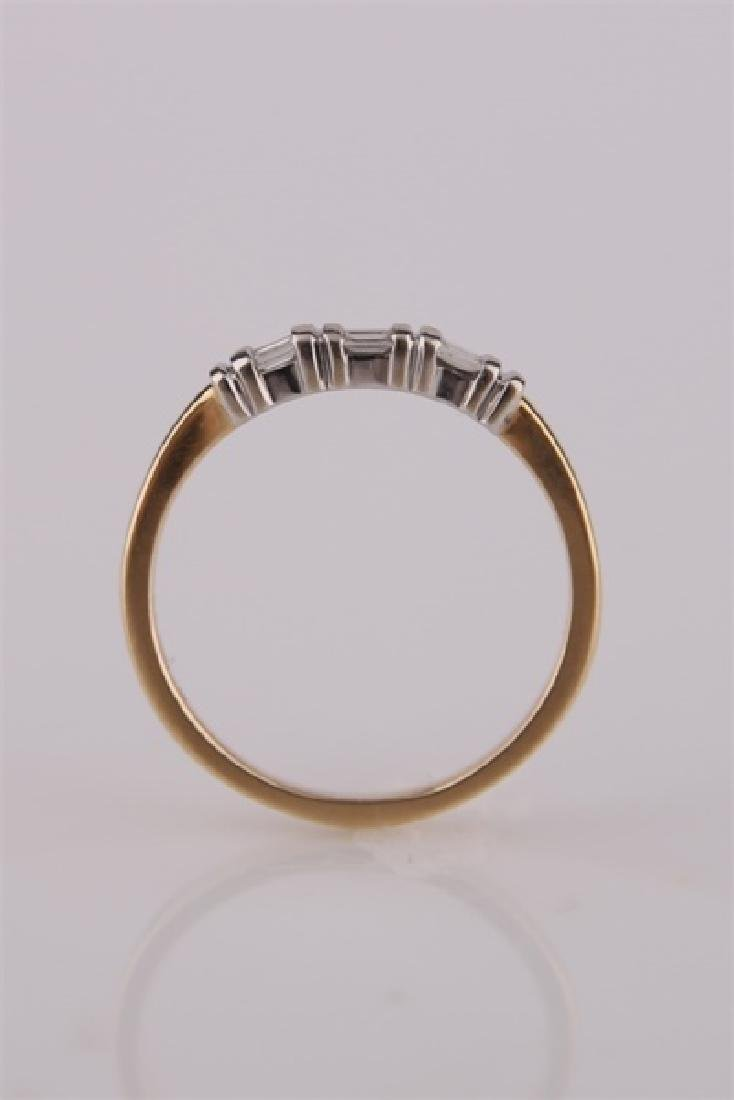 18kt Yellow Gold Ring with Diamonds - 2