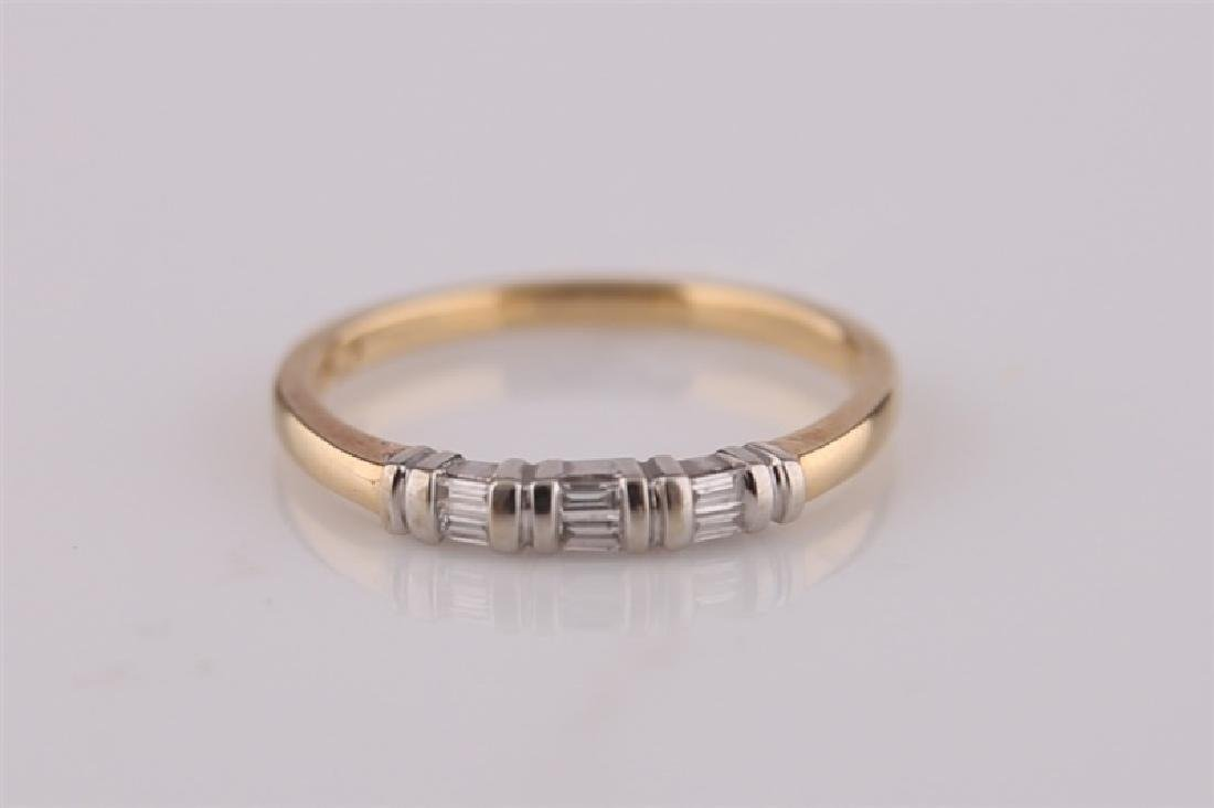 18kt Yellow Gold Ring with Diamonds - 4