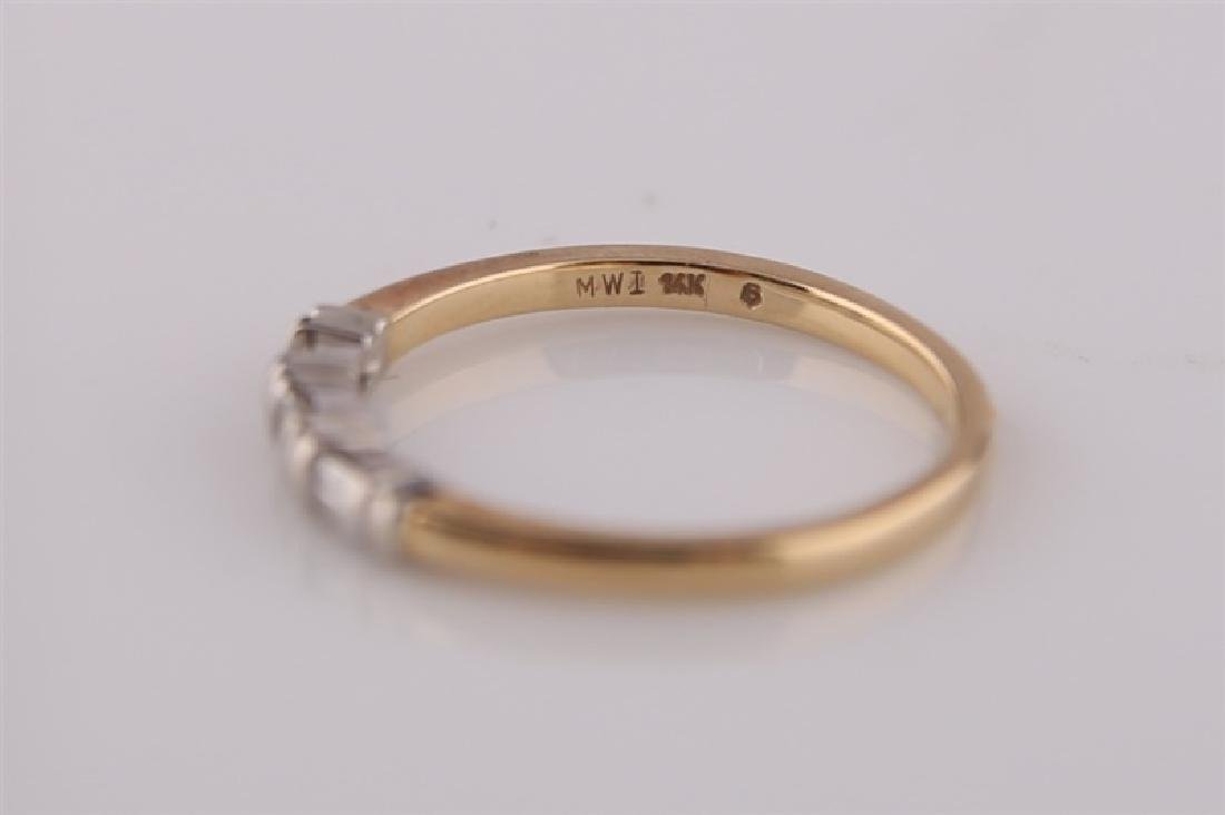 18kt Yellow Gold Ring with Diamonds - 5