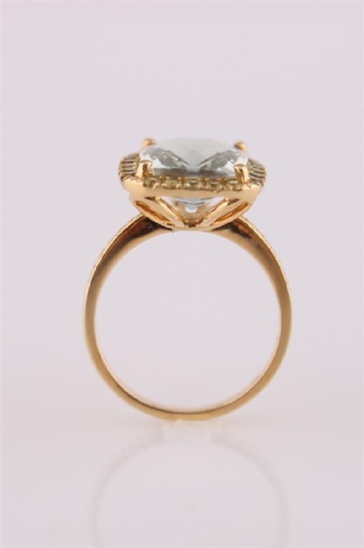 18kt Yellow Gold, Green Quartz, Peridot Ring - 8
