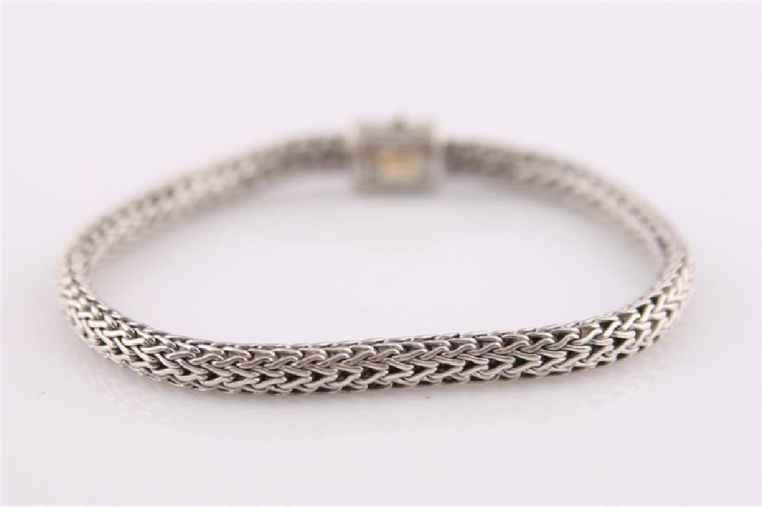 925 John Hardy Chain Bracelet with Diamonds - 5