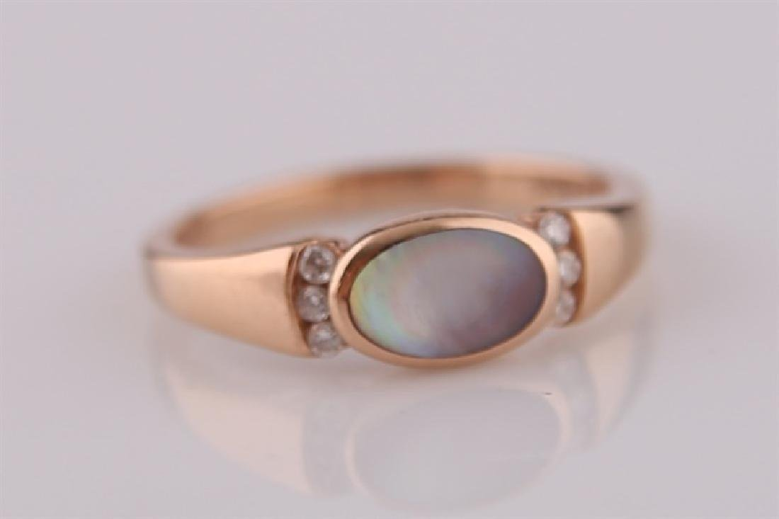 Kabana, 14kt Rose Gold Ring with Mother of Pearl