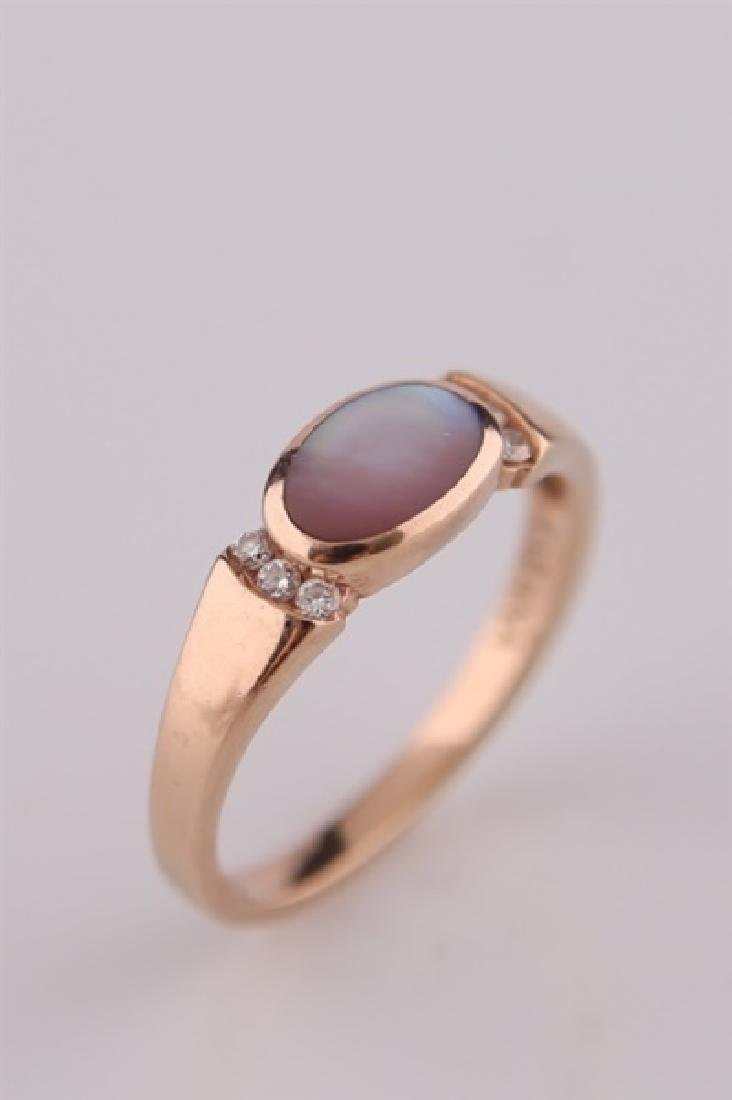 Kabana, 14kt Rose Gold Ring with Mother of Pearl - 3
