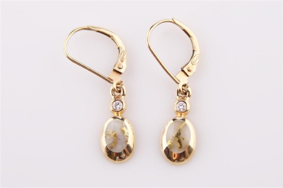 14kt Yellow Gold Kabana Teardrop Earrings