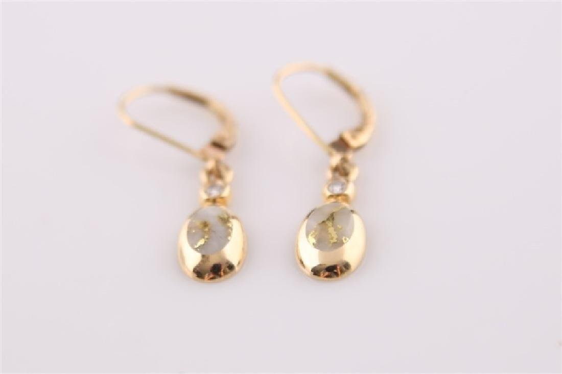 14kt Yellow Gold Kabana Teardrop Earrings - 2