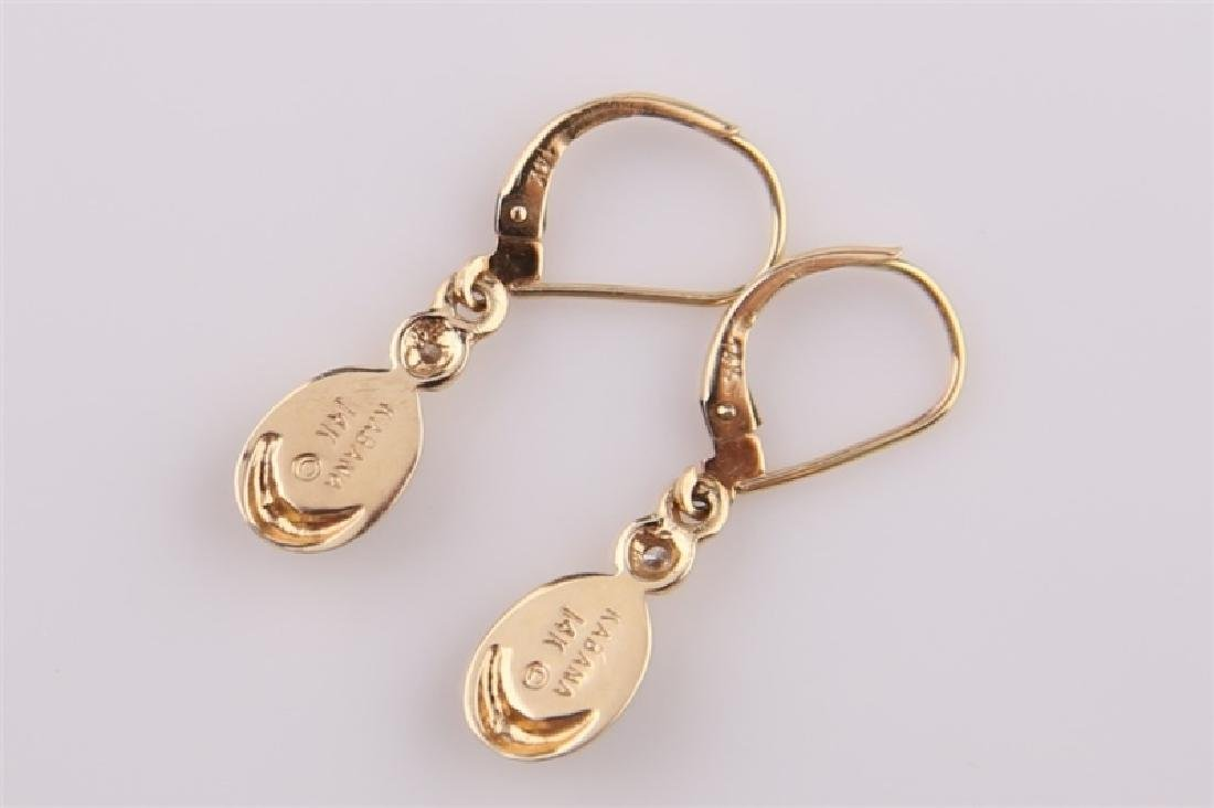 14kt Yellow Gold Kabana Teardrop Earrings - 3