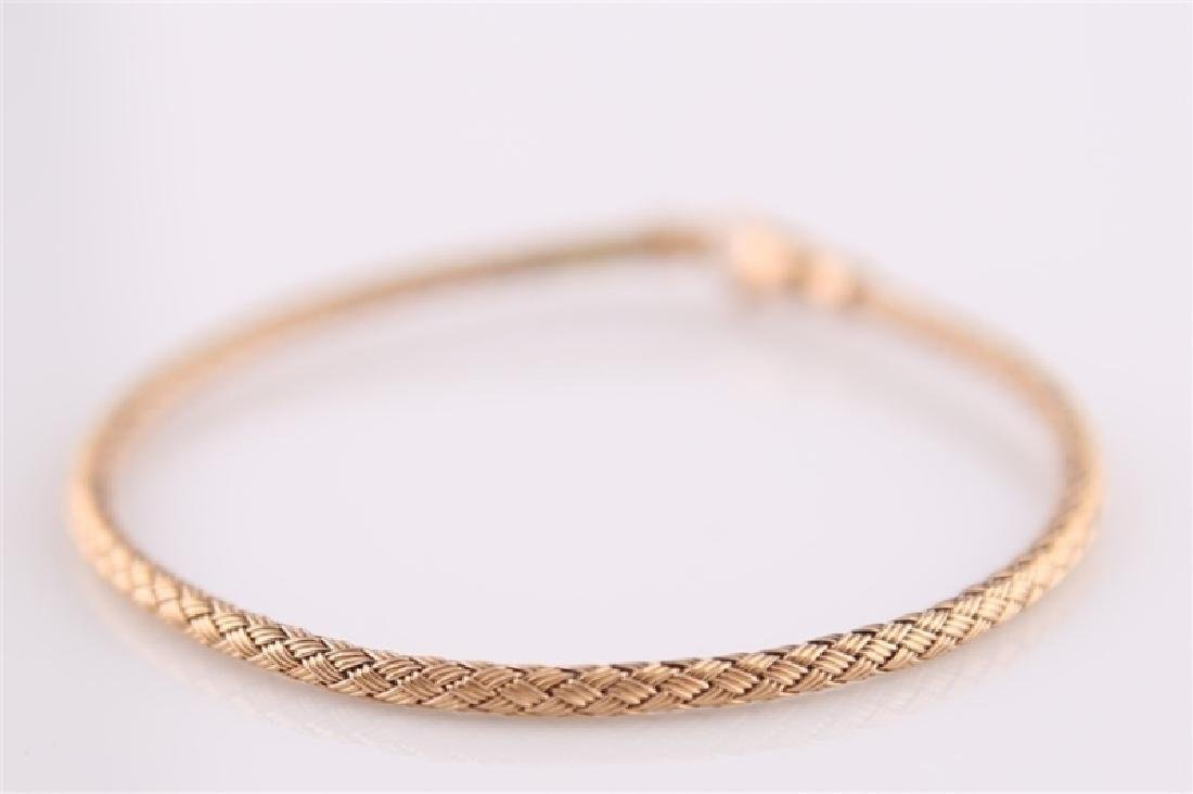14kt Rose Gold Woven-Style Bracelet