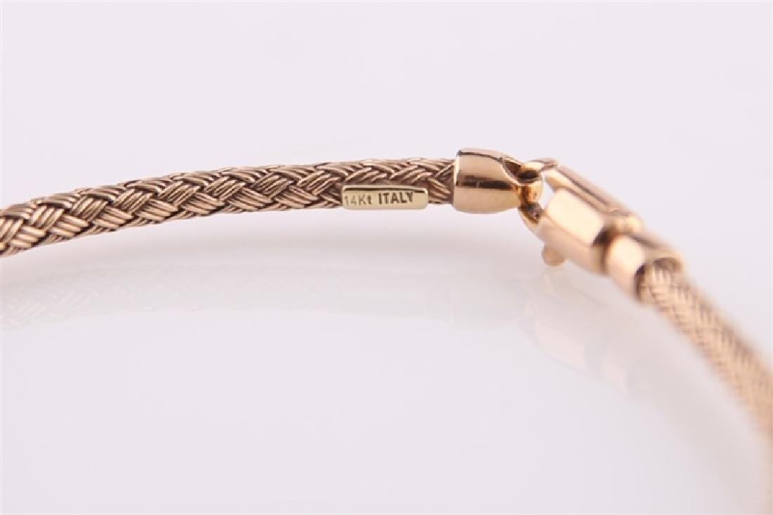 14kt Rose Gold Woven-Style Bracelet - 2