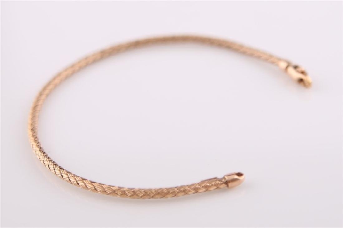 14kt Rose Gold Woven-Style Bracelet - 3