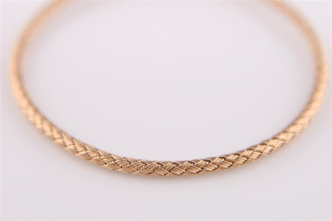 14kt Rose Gold Woven-Style Bracelet - 5
